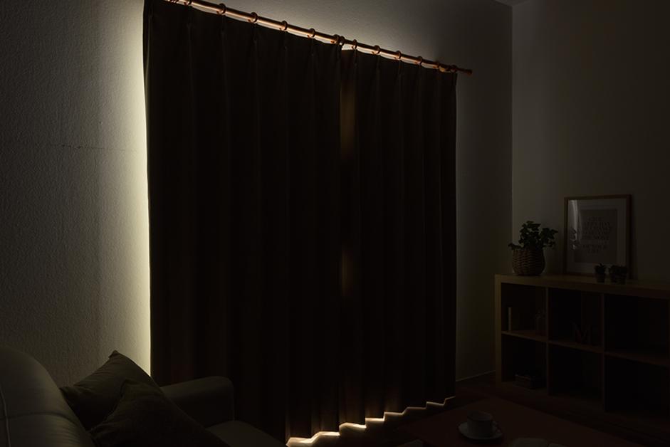 お部屋を真っ暗にする方法