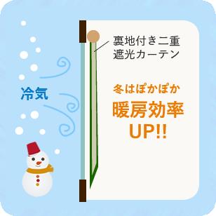冬はぽかぽか暖房効率UP!!
