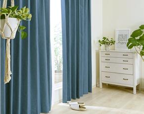 6色から選べる裏地付き二重遮光カーテン