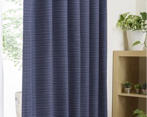 デニム風のおしゃれな2級遮光カーテン