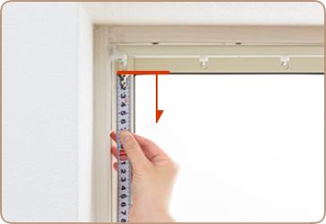 出窓や窓枠内にカーテンを設置する場合