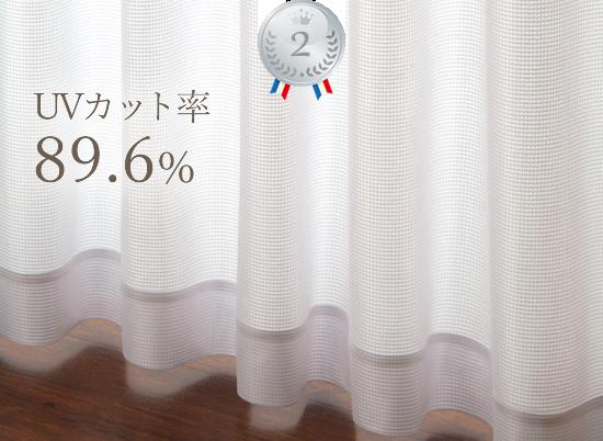 UVカット率89.6%レースカーテン