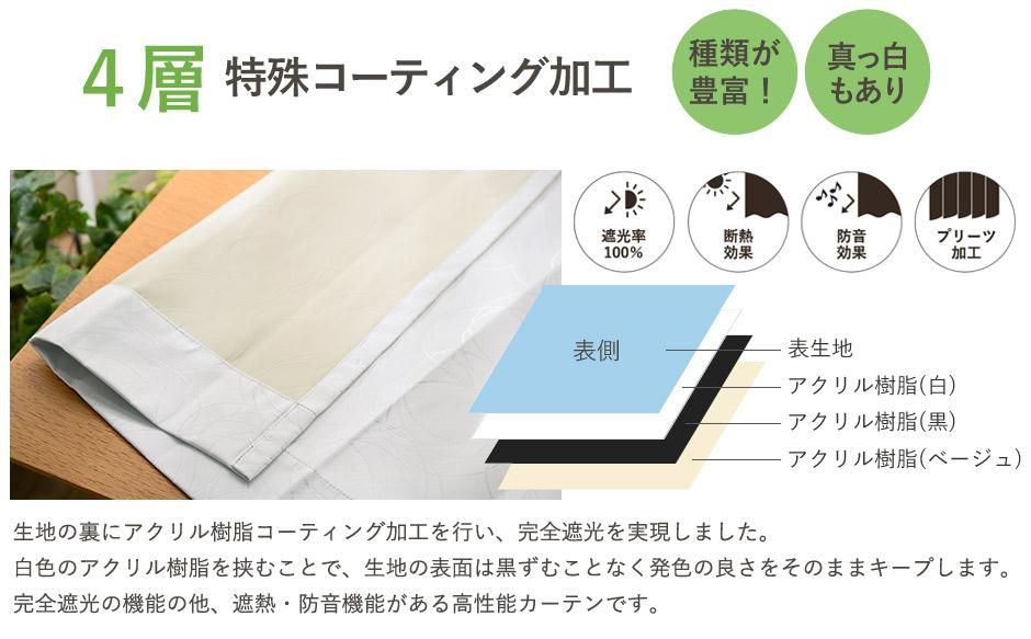 完全遮光カーテン ホワイトサークル