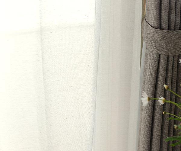 天然素材風・ミラー・UVカットレースカーテン L-1581